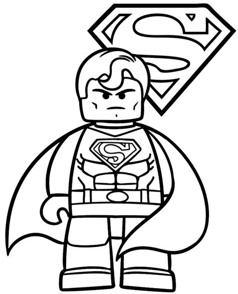 coloring pages with lego minifigures for free