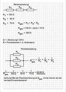 Widerstand Berechnen Reihenschaltung : brauche hilfe widerstandsformel rechnung widerstand physik ~ Themetempest.com Abrechnung