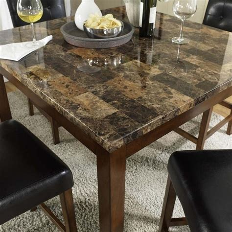 marble top kitchen table counter height 5 piece faux marble top counter height dining set da7241