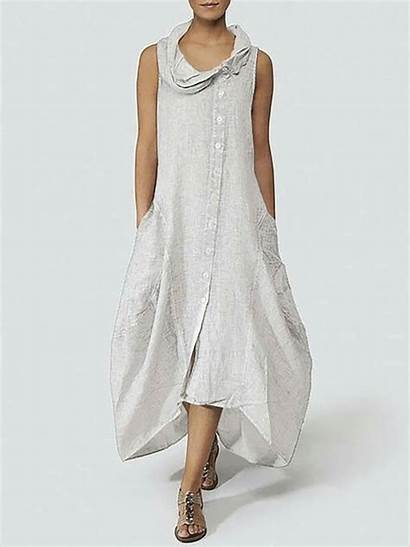 Summer Dresses Cocoon Sleeveless Solid Justfashionnow Daily