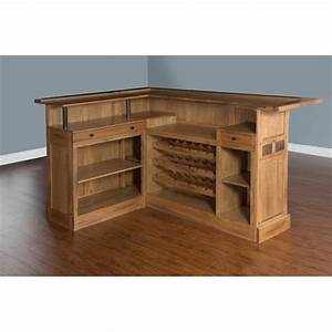 sunny designs sedona l shape home bar in rustic oak 1964ro With home bar furniture l shaped