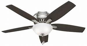 Hunter newsome hugger with bowl light ceiling fan