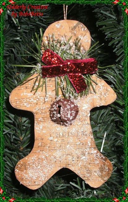 gingerbread ornaments ideas  pinterest