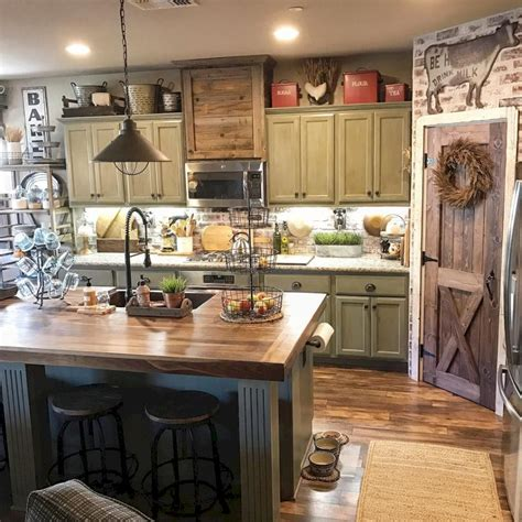 decor ideas for kitchens 30 rustic farmhouse kitchen decor ideas homeylife com