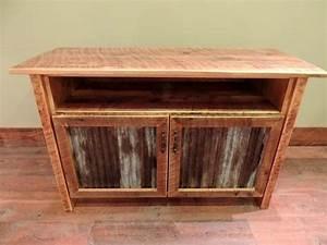 arizona style barnwood cabinet tv stand with corrugated With barnwood tv cabinet