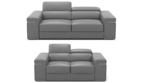 canapé en cuir gris deco in ensemble canape 3 2 places en cuir gris