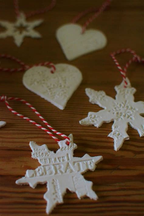 easy to make decorations diy air drying clay christmas tree decorations decorator s notebook