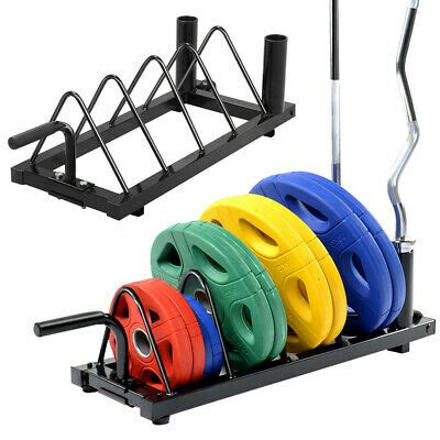 horizontal weight barbell rack olympic bumper bar holder weight plate storage  ebay
