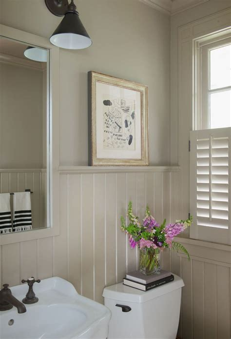 White Wainscoting Bathroom by A Storybook Cottage In Connecticut In 2019 Bathrooms