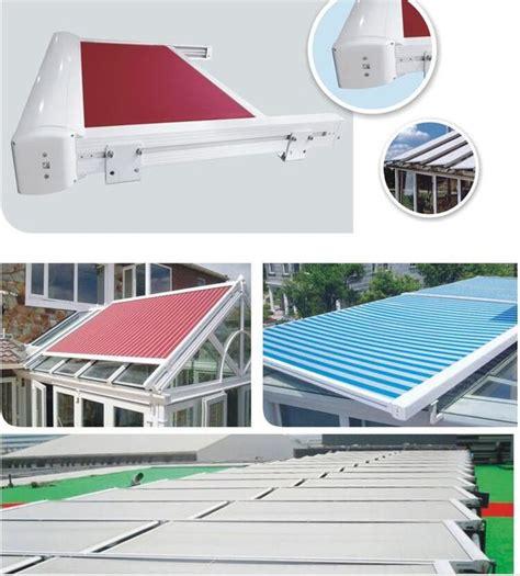 waterproof balcony remote motor control aluminium retractable awning