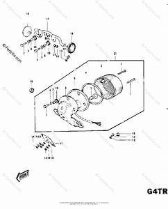 Kawasaki Motorcycle 1973 Oem Parts Diagram For Taillight