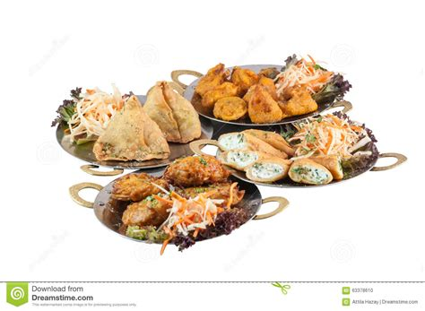 indian cuisine starters vegetarian indian food or starters on metal plates