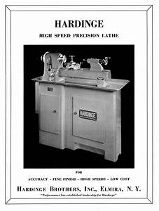 Hardinge Tr59 Split Bed High Speed Precision Metal Lathe