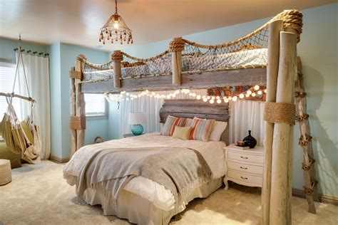 beach theme bedroom living room eclectic  rustic