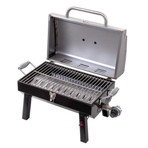 top gas grills char broil 174 stainless steel table top gas grill at menards 174