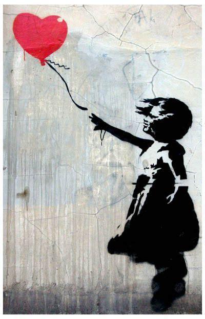 Girl with Balloon Banksy Graffiti