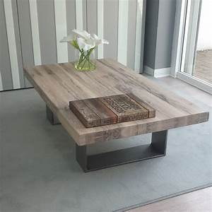 Wood and metal coffee table design images photos pictures for Wood top metal legs coffee table