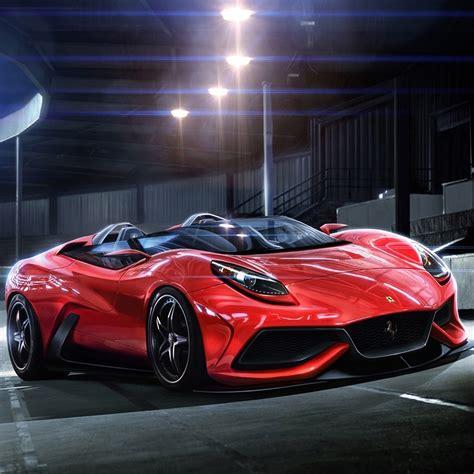 luxury red ferrari racing car ipad wallpaper