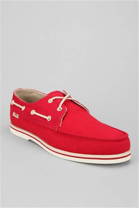 Red Vans Boat Shoes by Urban Outfitters Vans Foghorn Mens Boat Shoe In Red For