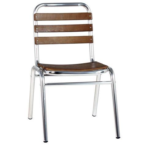 chaise de terrasse chaise de terrasse aluminium et bois cra 42f one mobilier