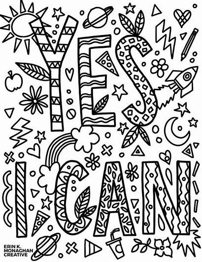 Coloring Mindset Growth Pages Sheets Motivational Cool