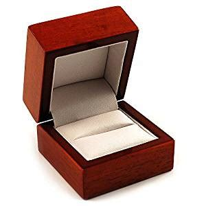Ring Box With Light by Luxury Wooden Light Brown Mahogany Ring Box