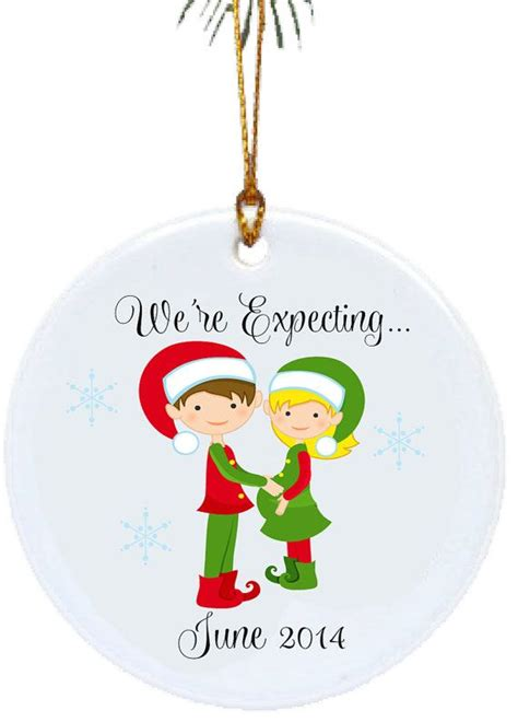 personalized christmas ornaments we re expecting