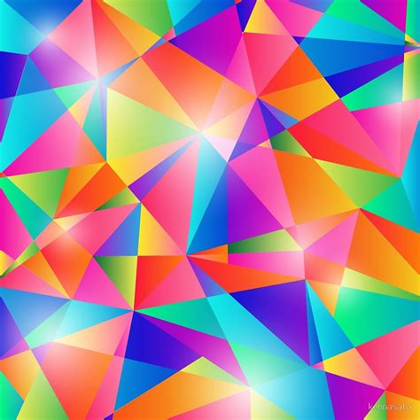 Shapes Background Quot Colorful Shapes Background Quot By Kennasato Redbubble