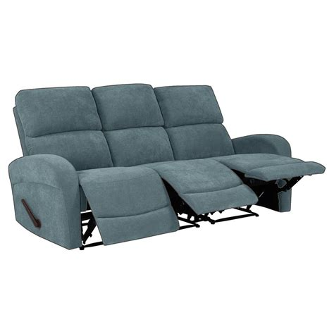 Blue Chenille Sofa by Prolounger Caribbean Blue Chenille 3 Seat Recliner Sofa