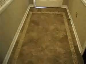 ceramic tile design in foyer