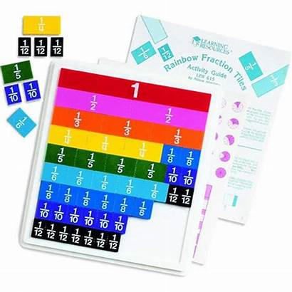 Fraction Tiles Rainbow Math Fractions Learning Manipulatives