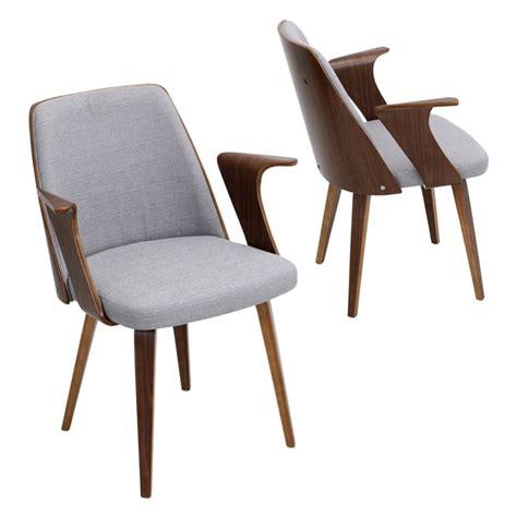 verdana mid century modern chair in walnut wood free