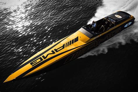 Yellow Cigarette Boat by 10 Powerboats That Are For The Boating Enthusiast
