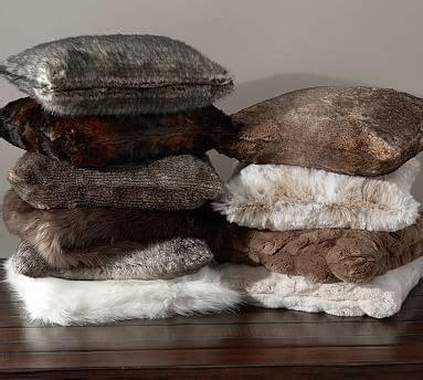 faux fur pillow cover pottery barn