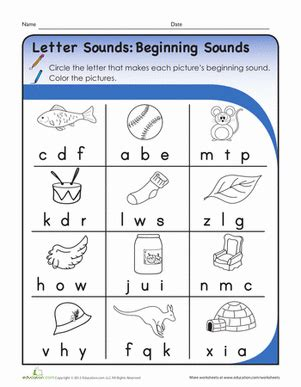 letter sounds for preschoolers letter sounds beginning sounds worksheet education 340