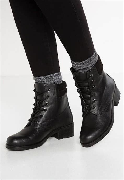 veterboots black  zalandonl zwarte enkellaarsjes enkellaarzen korte laarzen