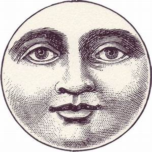 Moon Face from an 1800s children's magazine. public domain ...