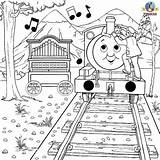 Thomas Coloring Train Pages Percy Friends Tank Engine Musical Colouring Activities Christmas Trains Games Print Calliope Instrument Reward Cute Activity sketch template