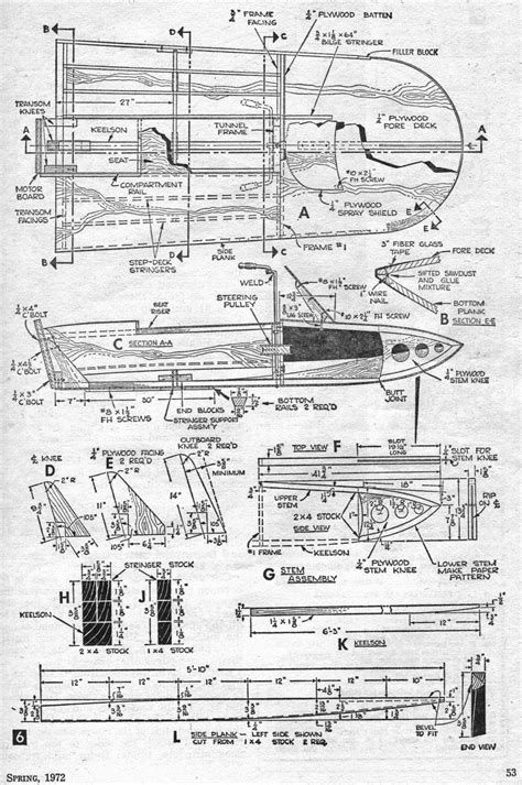 Wooden Hydro Boat Plans by Guide Free Racing Hydroplane Plans Aiiz