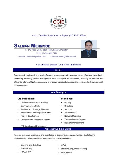 Ccie Resume Exles by Salman Mahmood Resume