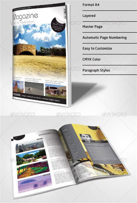 Magazine Format Template by 22 Sport Magazine Cover And Layout Templates Dzineflip