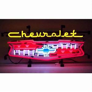 GM Chevrolet Grill Neon Sign Chevy