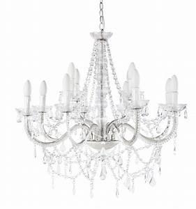 Lustre Baroque Maison Du Monde : lustre pampilles 12 branches en m tal blanc d 73 cm isabeau maisons du monde ~ Melissatoandfro.com Idées de Décoration