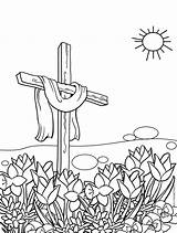 Easter Coloring Cross Pages Printable Cool Crosses Colouring Easy Cool2bkids Getcolorings Rocks Template sketch template