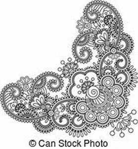 Henna Muster Schablone : lace doily henna flower frame lace doily henna mehndi vector illustration search clipart ~ Frokenaadalensverden.com Haus und Dekorationen