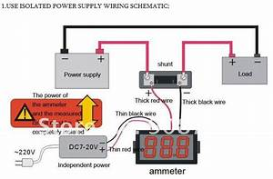 2019 Dc Ammeter 0 50a With Shunt Resistor Mini Panel Amp