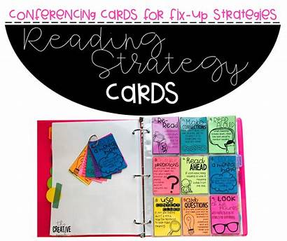 Strategy Cards Comprehension Fix Reading Conferencing Teaching