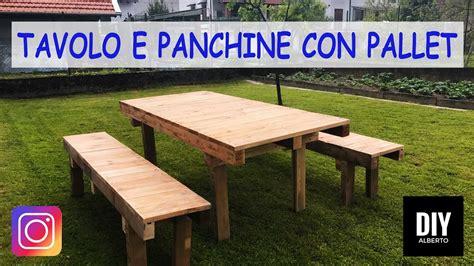 Tavolo Fai Da Te Con Bancali by Tavolo E Panchine Con Pallet Fai Da Te Diy