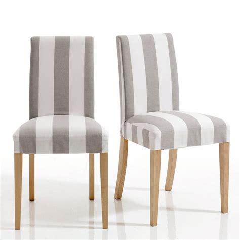 housse de chaise conforama chaise déhoussable inqaluit lot de 2 chaises la