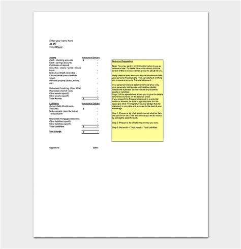 asset list template  examples  word excel
